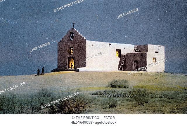 An Indian Church, Pueblo of Sandia, near Albuquerque, New Mexico, USA, 20th century