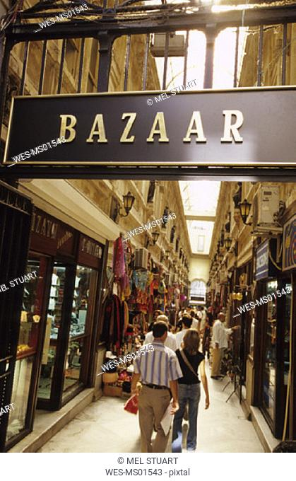 Turkey, Istanbul, entrance to Bazaar at Hamalbasi Caddesi (Beyoglu)