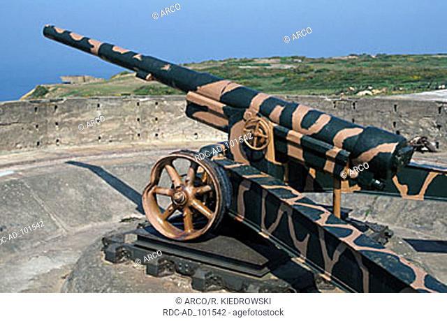 Old canon St. Aubin Jersey Channel Islands Great Britain