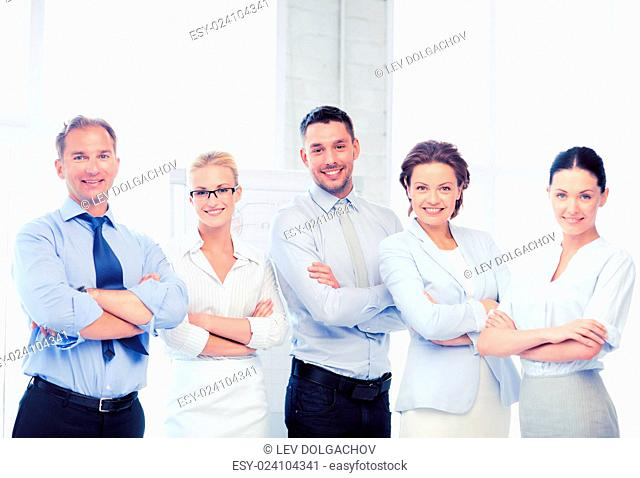 picture of happy business team in office