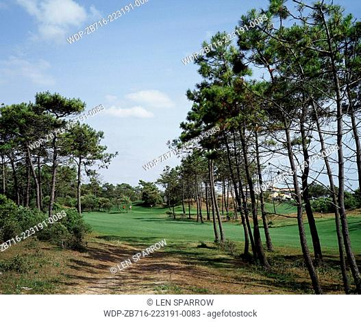 The golf course at St Jean de Mont in Brittany, France