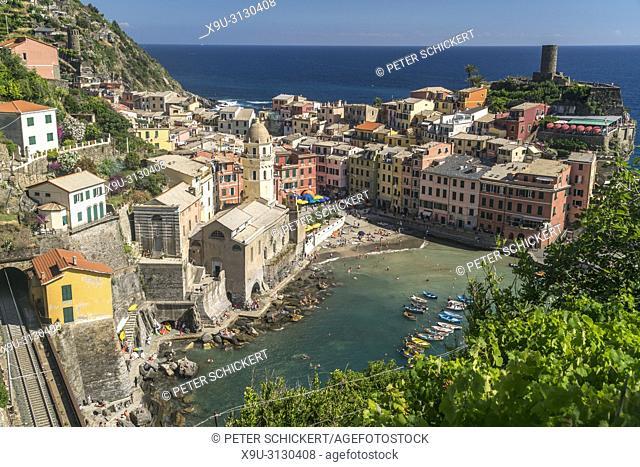 Vernazza, Cinque Terre, Riviera di Levante, Ligurien, Italien | Vernazza, Cinque Terre, Riviera di Levante, Liguria, Italy