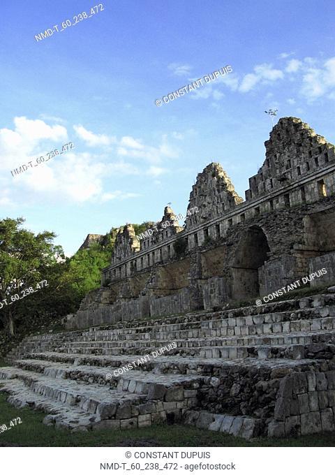 Facade of an old building, Uxmal, Yucatan, Mexico