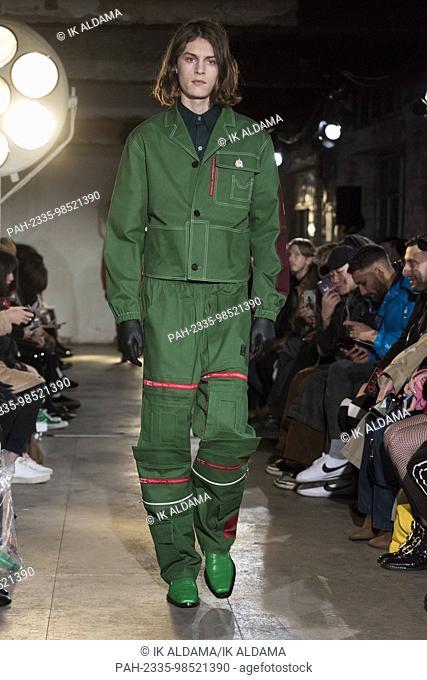 Xander Zhou catwalk during LFWM January 2018. Autumn/Winter 2018 Collection. London, UK. 06/01/2018   usage worldwide. - London/United Kingdom of Great Britain...