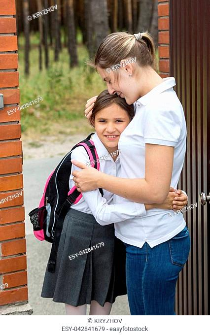 Mother goodbye daughter Stock Photos and Images | age fotostock
