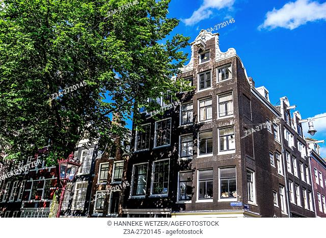 Traditional architecture of Amsterdam, Holland, Europe