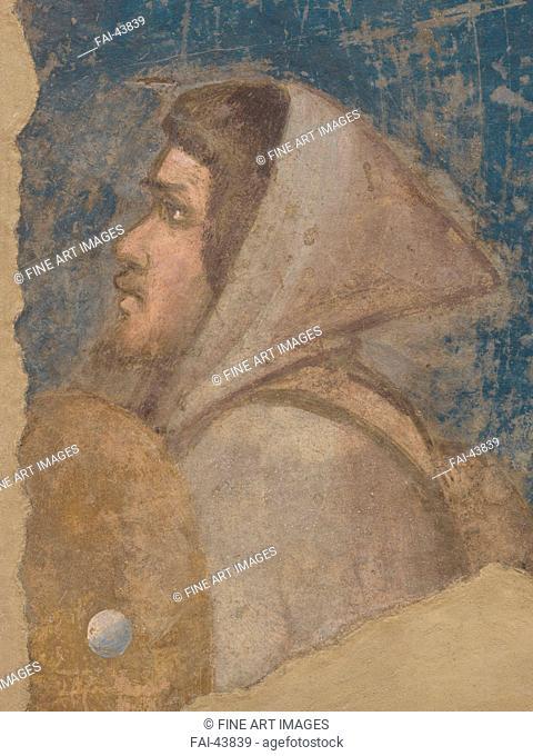 The Shepherd's Head. Joachim among the shepherds by Giotto di Bondone (1266-1377)/Fresco/Gothic/1315-1321/Italy, Florentine School/Galleria dell'Accademia