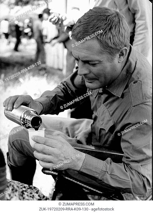 June 8, 1965 - Rome, Italy - MARCELLO MASTROIANNI with blonde hair, on set of the film, 'The 10th Victim,' based on Robert Scheckley's science fiction novel