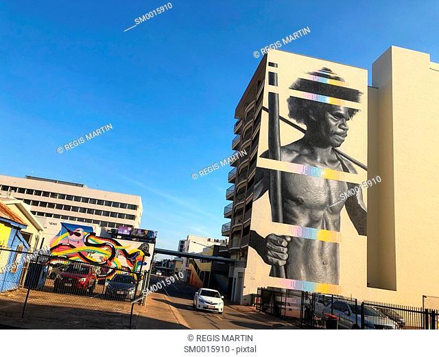 Street art from Austin Lane in Darwin, Northern Territory, Australia
