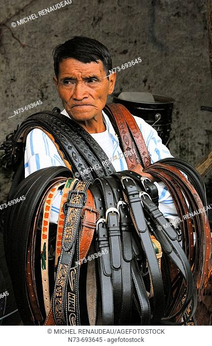 Handicrafts, Chichicastenango. Guatemala