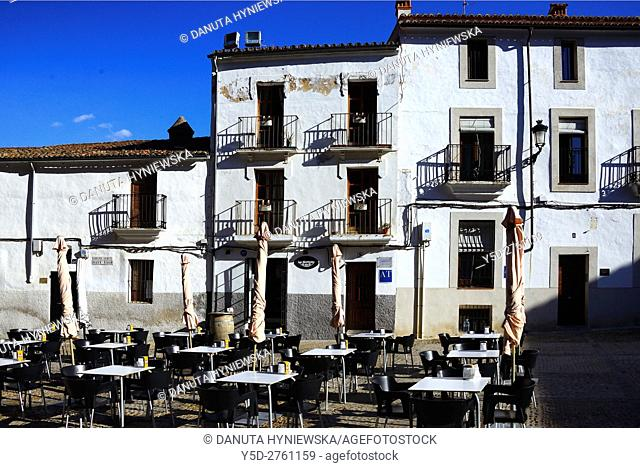 Plaza de Santiago, old town of Caceres, UNESCO , Extremadura, Spain. Europe
