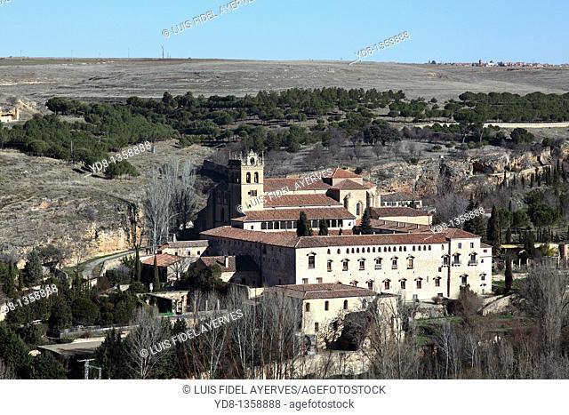 Panoramic View Church of Segovia, Spain
