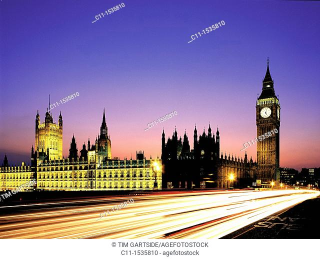 big ben westminster houses of parliament night london england uk night