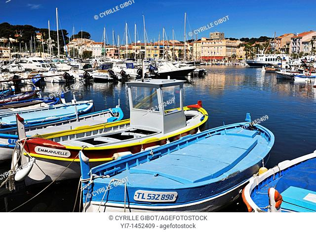 Sanary sur Mer, Var, Provence, France, the old harbour