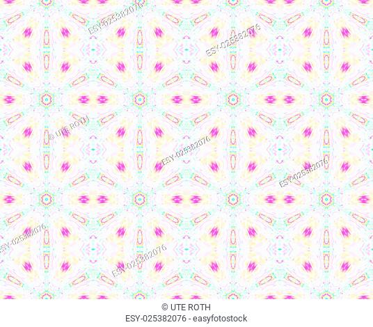 Abstract geometric background, seamless floral diamond pattern pastels
