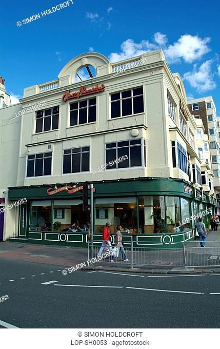 England, East Sussex, Brighton, Exterior view of Harry Ramsden's Fish Restaurant in Brighton