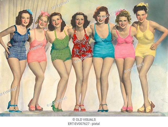 Women posing in bathing suits