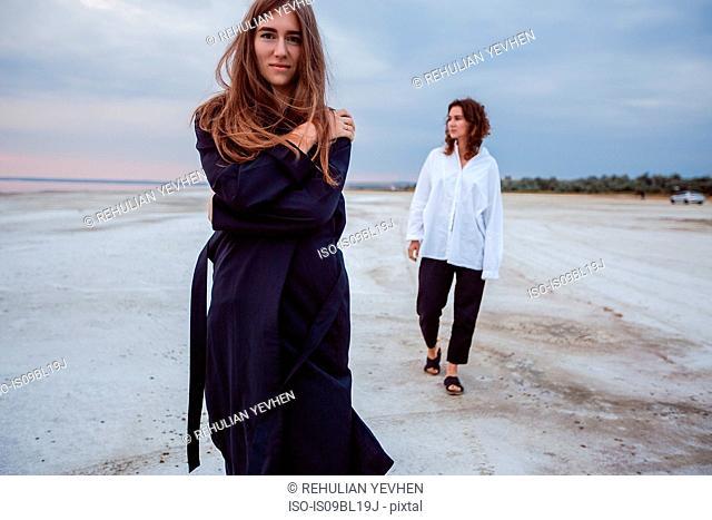 Women on beach, Odessa, Ukraine