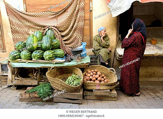 Morocco, Middle Atlas, Fez, Imperial City, Fez El Bali, medina listed as World Heritage by UNESCO, Talaa Kebira, one of the main streets of the medina