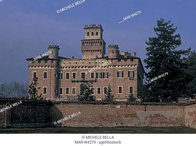 italy, lombardia, chignolo po, procaccini castle