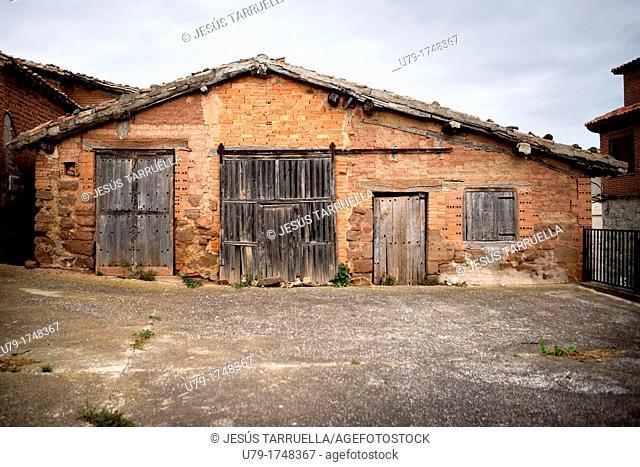 Façade of an old house, La Rioja, Spain