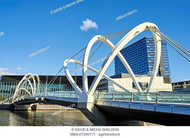 Seafarers Bridge (Seafarersbridge), Docklands, Waterfront, Melbourne, Victoria, Australia, Oceania