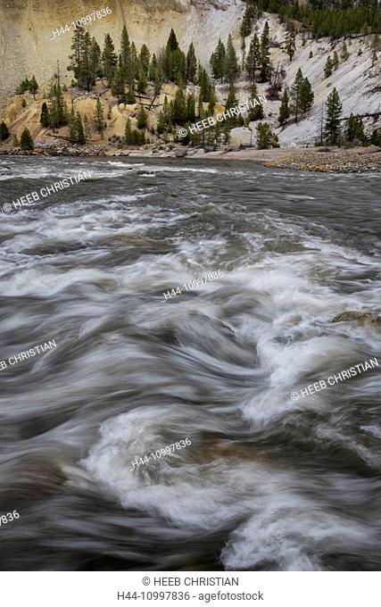 USA, Rocky Mountains, Wyoming, Yellowstone, National Park, UNESCO, World Heritage, Yellowstone river canyon