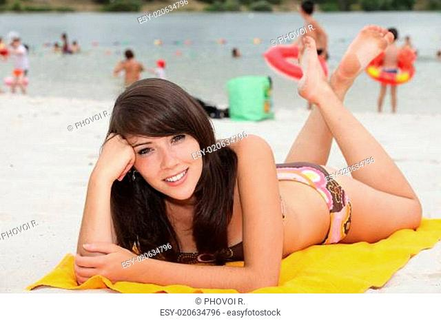portrait of a young woman on the beach