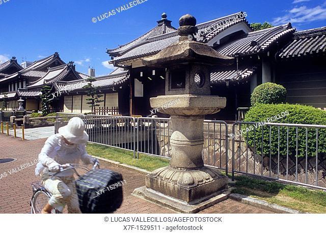 Facade of Nishi-Honganji temple,UNESCO World Heritage Site,Kyoto, Japan