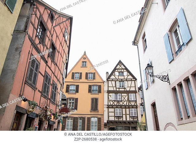 Colmar, Petit Venice, traditional colorful houses in Alsace, France
