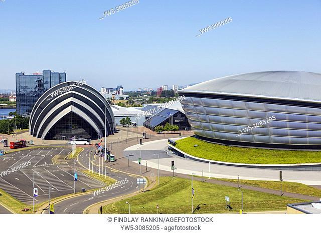 The Scottish Exhibition and Conference CEntre, SECC, known as the Armadillo and the Hydro concert venue, Anderston, Glasgow, Scotland