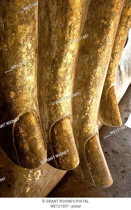 Hand Of The Giant Buddha Statue, Wat Si Chum, Sukhothai, Thailand