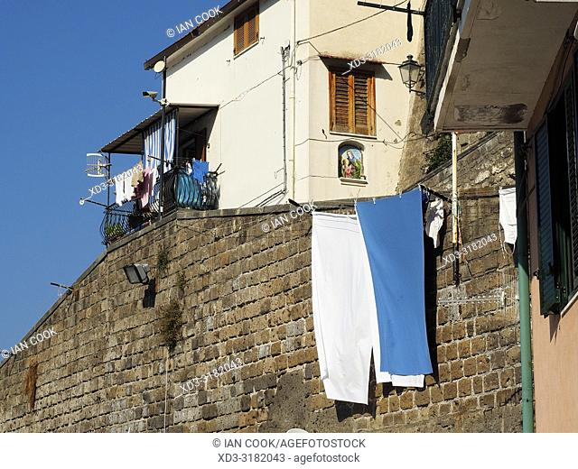 laundry drying, Marina Grande Neighbourhood, Sorrento, Naples Province, Italy