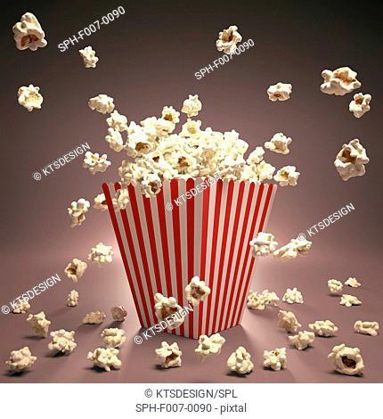 Popcorn, computer artwork