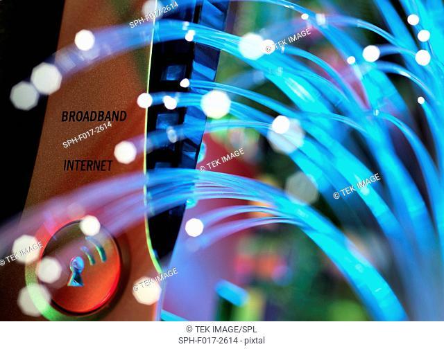 Fibre optics used to send data darting pasta broadband hub