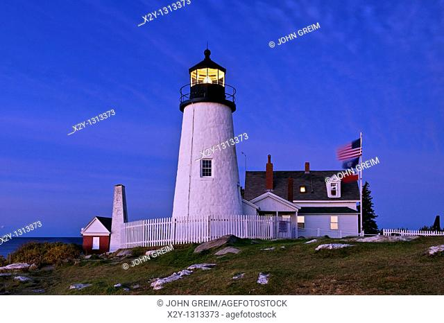 Pemaquid Point Light Station, Muscongus Bay, Bristol, Maine, USA  1827