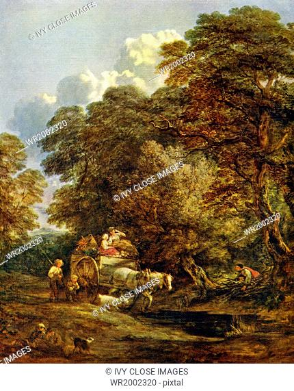 This painting titled The Market Cart is by English astist Thomas Gainsborough and is housed in The Victoria and Albert Museum in London