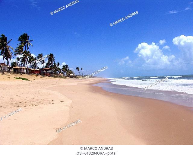 empty beach shore in bahia