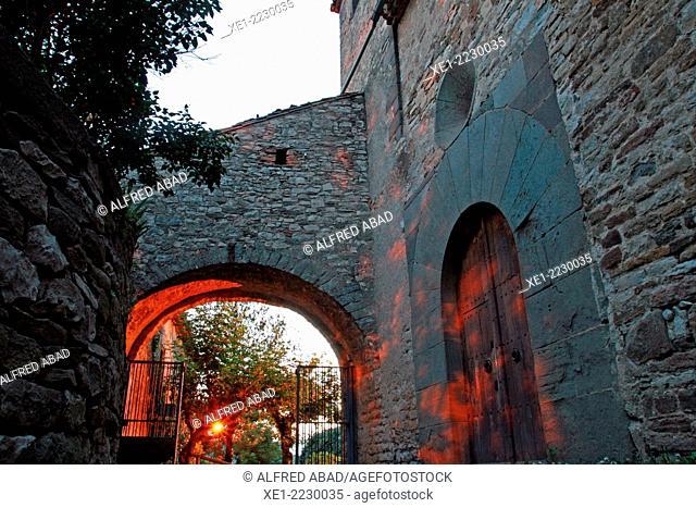 Arcade, Church of Sant Cristofol, Tavertet, Osona, Catalonia, Spain