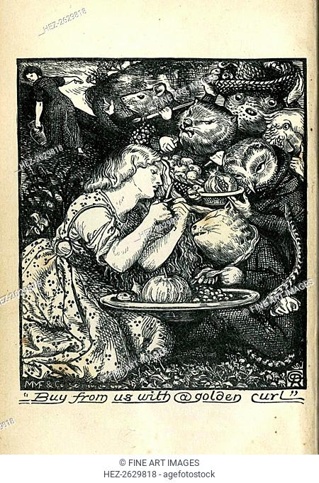 Frontispiece of Goblin Market and Other Poems by Christina Rossetti, 1861-1862. Artist: Rossetti, Dante Gabriel (1828-1882)