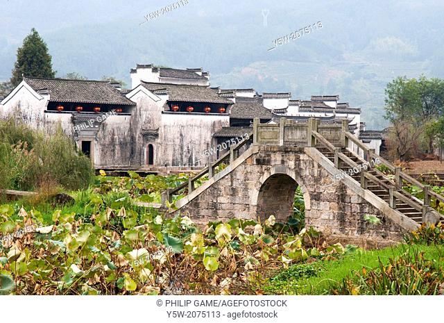 Outside the heritage village of Chengkan in Huizhou region, Anhui province, China