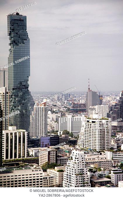 MahaNakhon Building Witihin Bangkok Skyline - Bangkok - Thailand