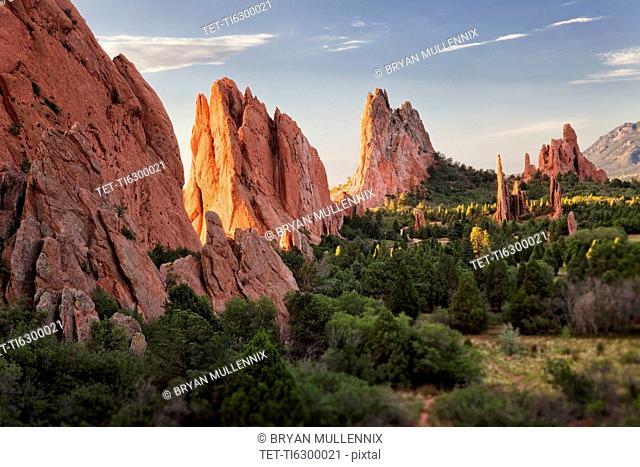 USA, Colorado, Colorado Springs, Garden of Gods, rock formations