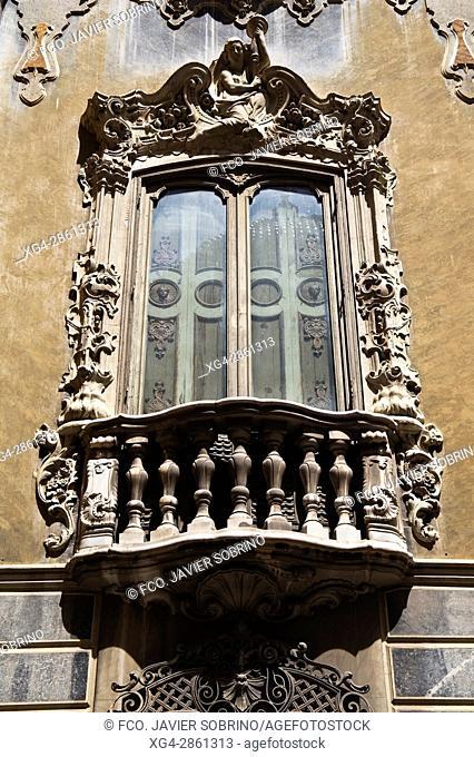 Detalle del Palacio del Marqués de Dos Aguas - Museo Nacional de Cerámica - Valencia - Comunidad Valenciana - España - Europa