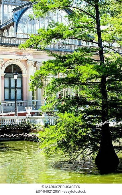 Crystal Palace (Palacio de cristal) in Retiro Park,Madrid, Spain