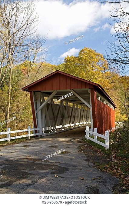 Peninsula, Ohio - The Everett Road covered bridge in Cuyahoga Valley National Park