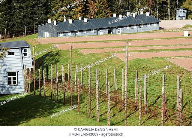 France, Bas Rhin, Natzwiller, Struthof KL Natzwiller Camp and the European Centre of Deported Resistance Members