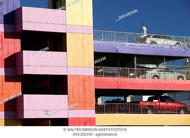 Garage detail of La Placita complex in downtown Tucson. Arizona, USA