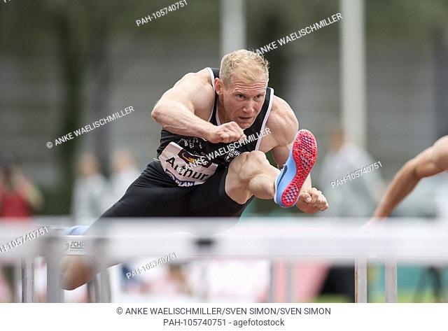 Arthur ABELE (GER / SSV Ulm 1846), action, 110m hurdles of the men, on 17.06.2018 Athletics Stadtwerke Ratingen all-around meeting, from 16.06. -17.06