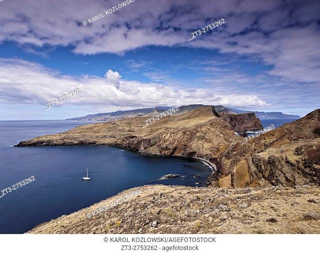 Portugal, Madeira, Landscape of the Ponta de Sao Lourenco.